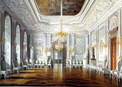 Белый зал в парадной половине Павла I