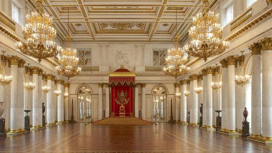Георгиевский (Большой тронный) зал. Зимний дворец. Эрмитаж