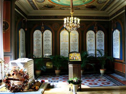 Комната с останками Николая II и его семьи