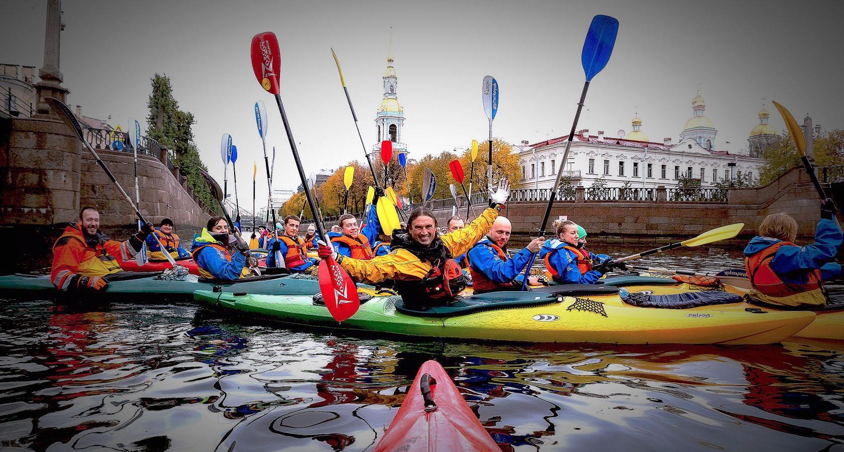 Экскурсии на байдарках и каяках в Петербурге