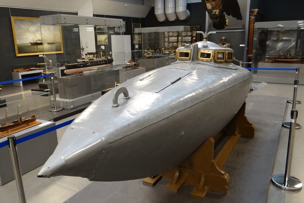 Экспонат музея ВМФ: Подводные лодки С.К. Джевецкого
