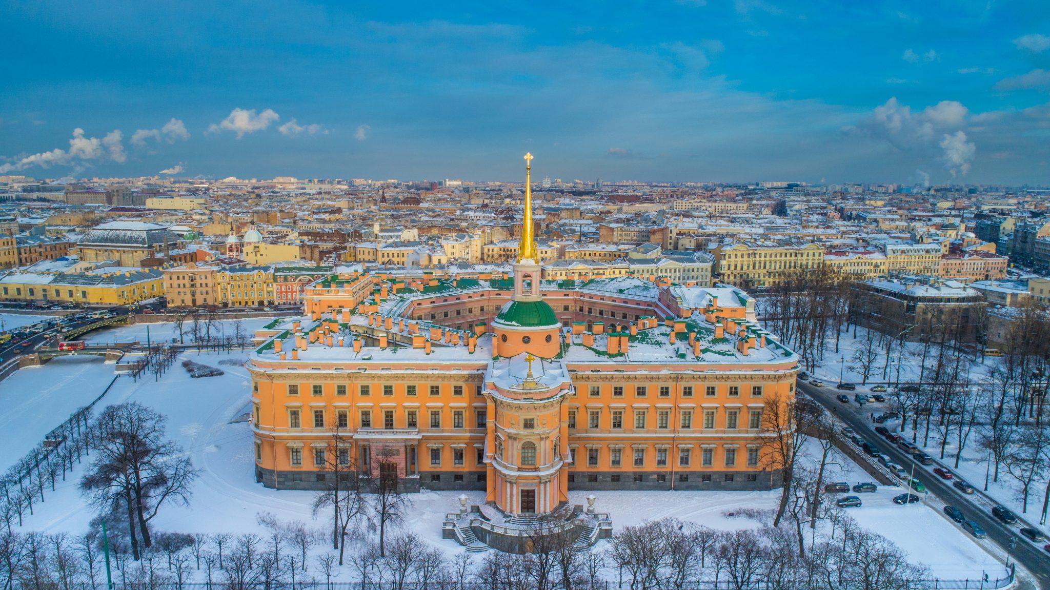 Михайловский (Инженерный) замок в Санкт-Петербурге в 2020 году