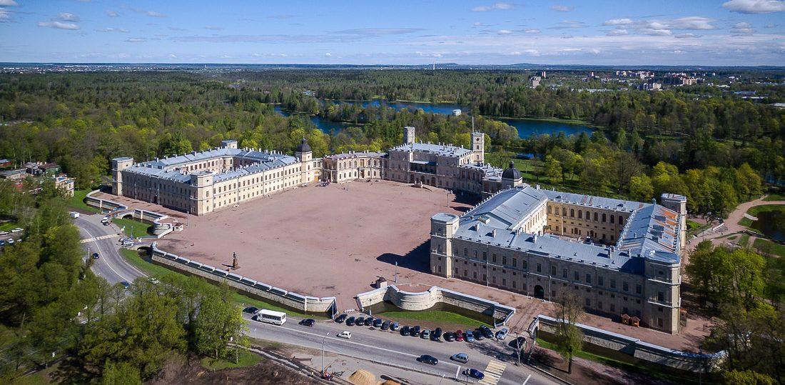 Гатчинский дворец вид сверху