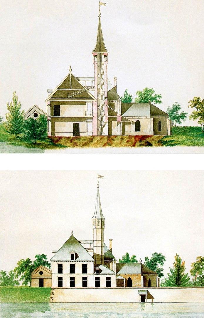 Фасад Приоратского дворца - 1797 год