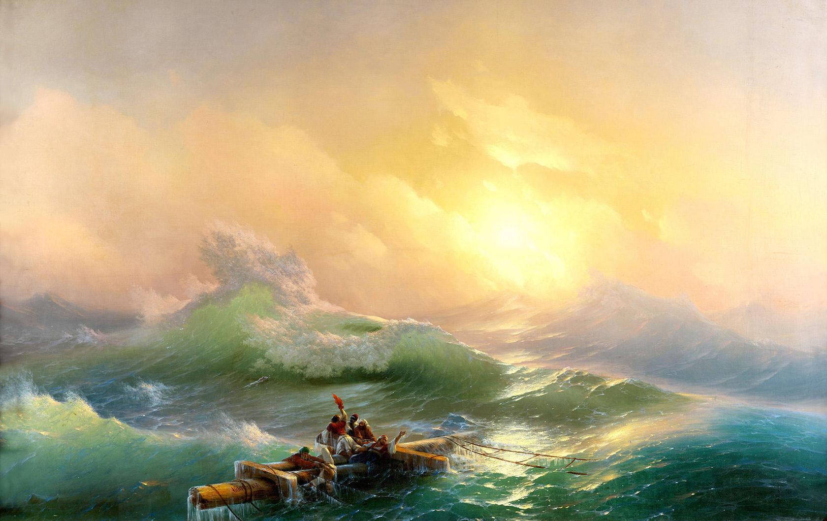Иван Айвазовский. Девятый вал. 1850