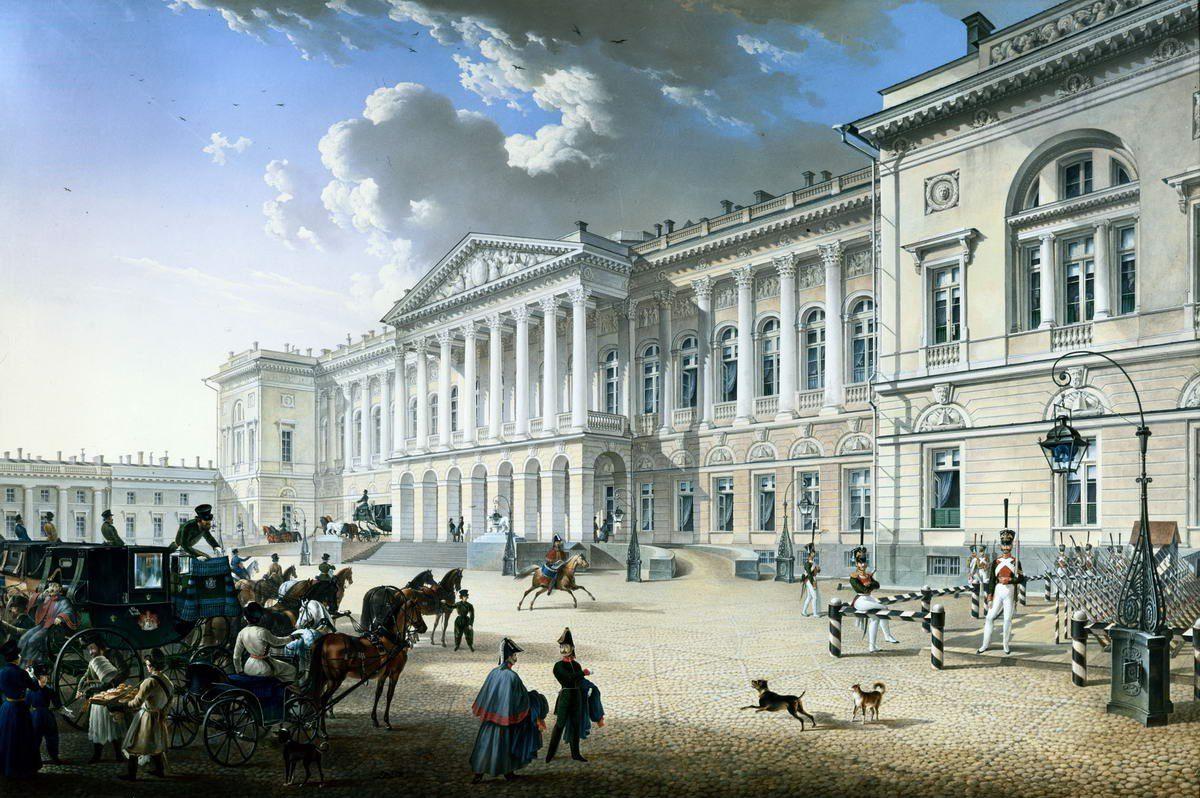 Михайловский дворец. К.П.Беггров, 1832 г.