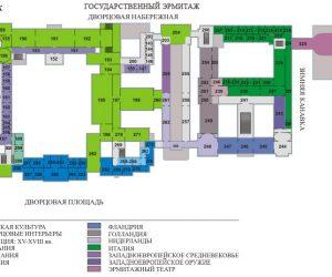 План-схема 2 этажа Эрмитажа