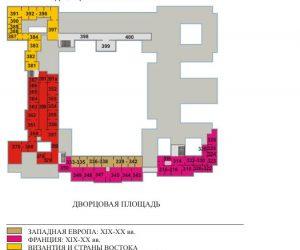 План-схема 3 этажа Эрмитажа