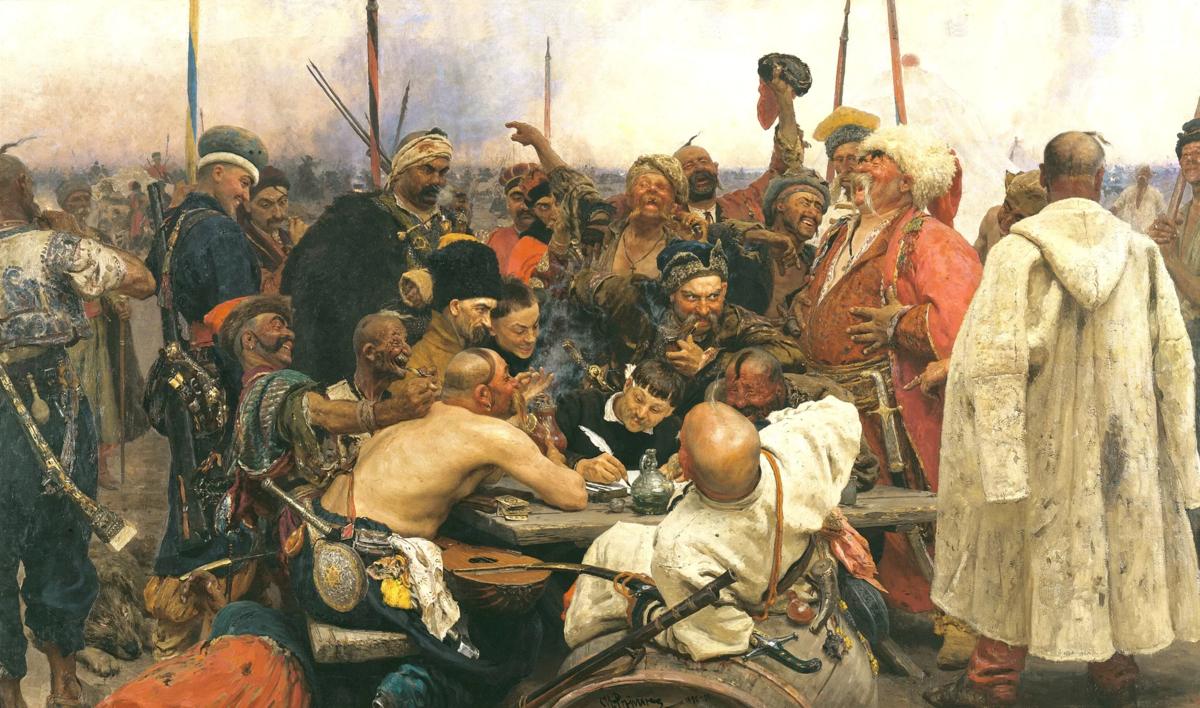 Запорожцы пишут письмо турецкому султану. Илья Репин. 1891