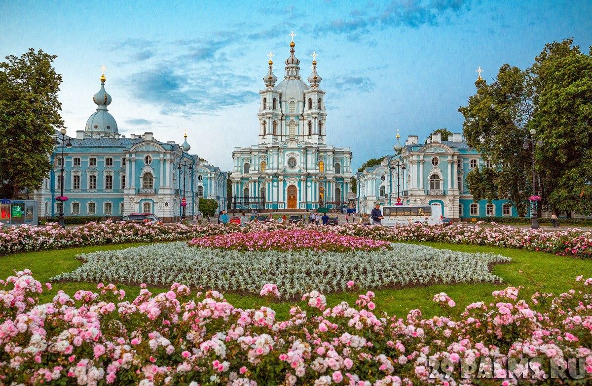 Сад Смольного собора в Петербурге