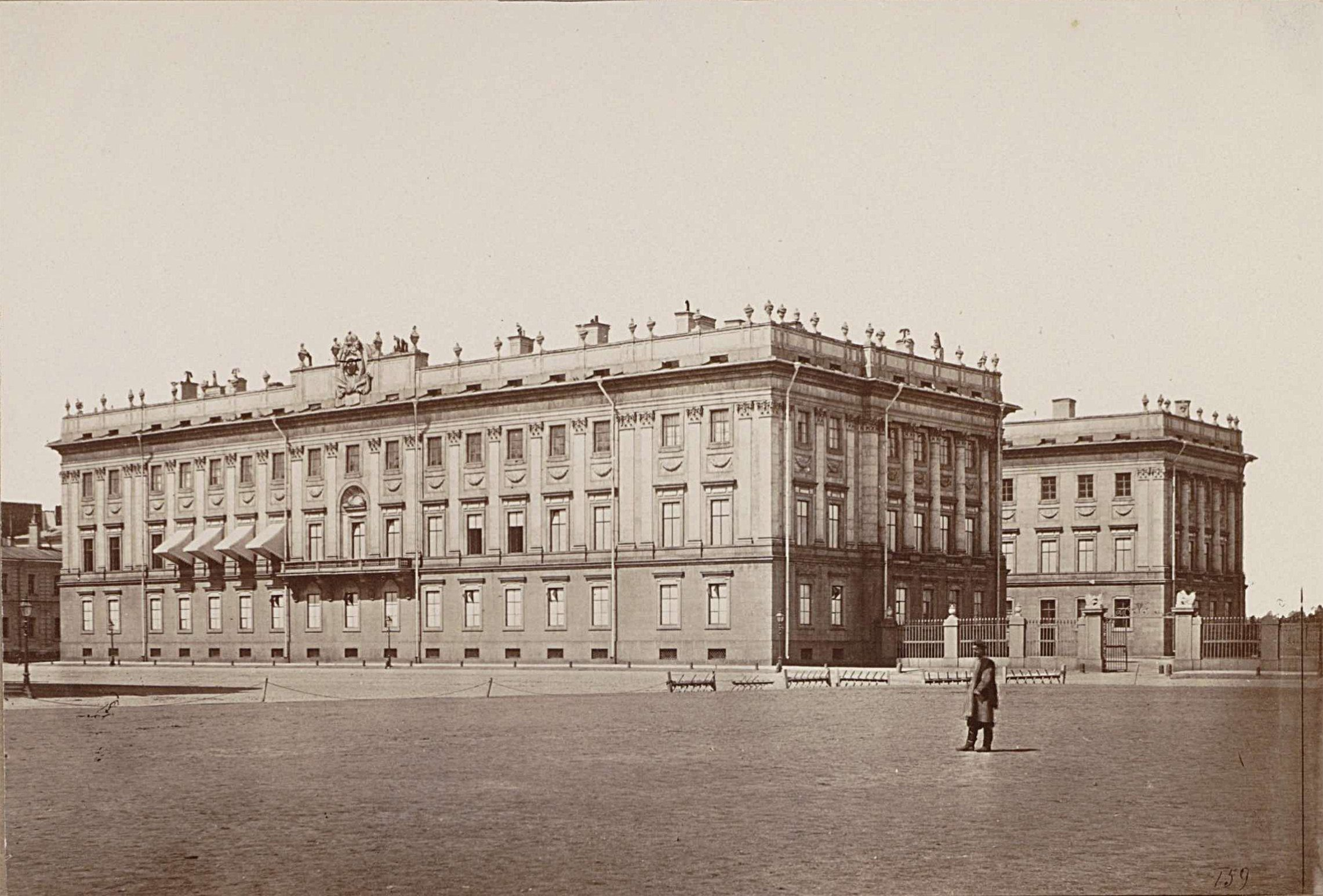 История мраморного дворца, фото 1865-1869
