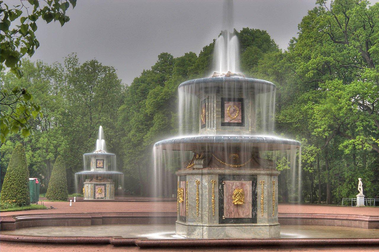 Римские фонтаны в Петергофе