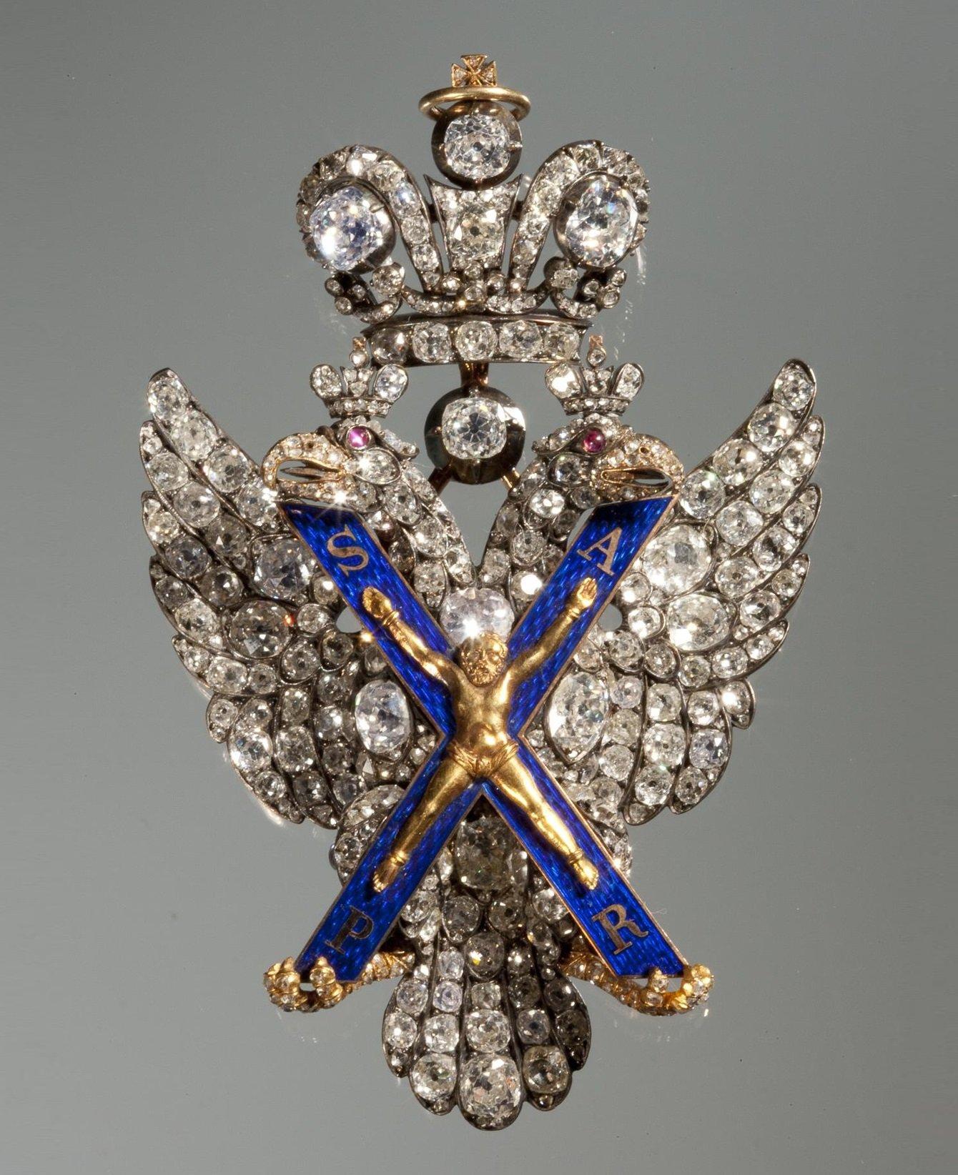 Орден Андрея Первозванного в Бриллиантовой кладовой Эрмитажа
