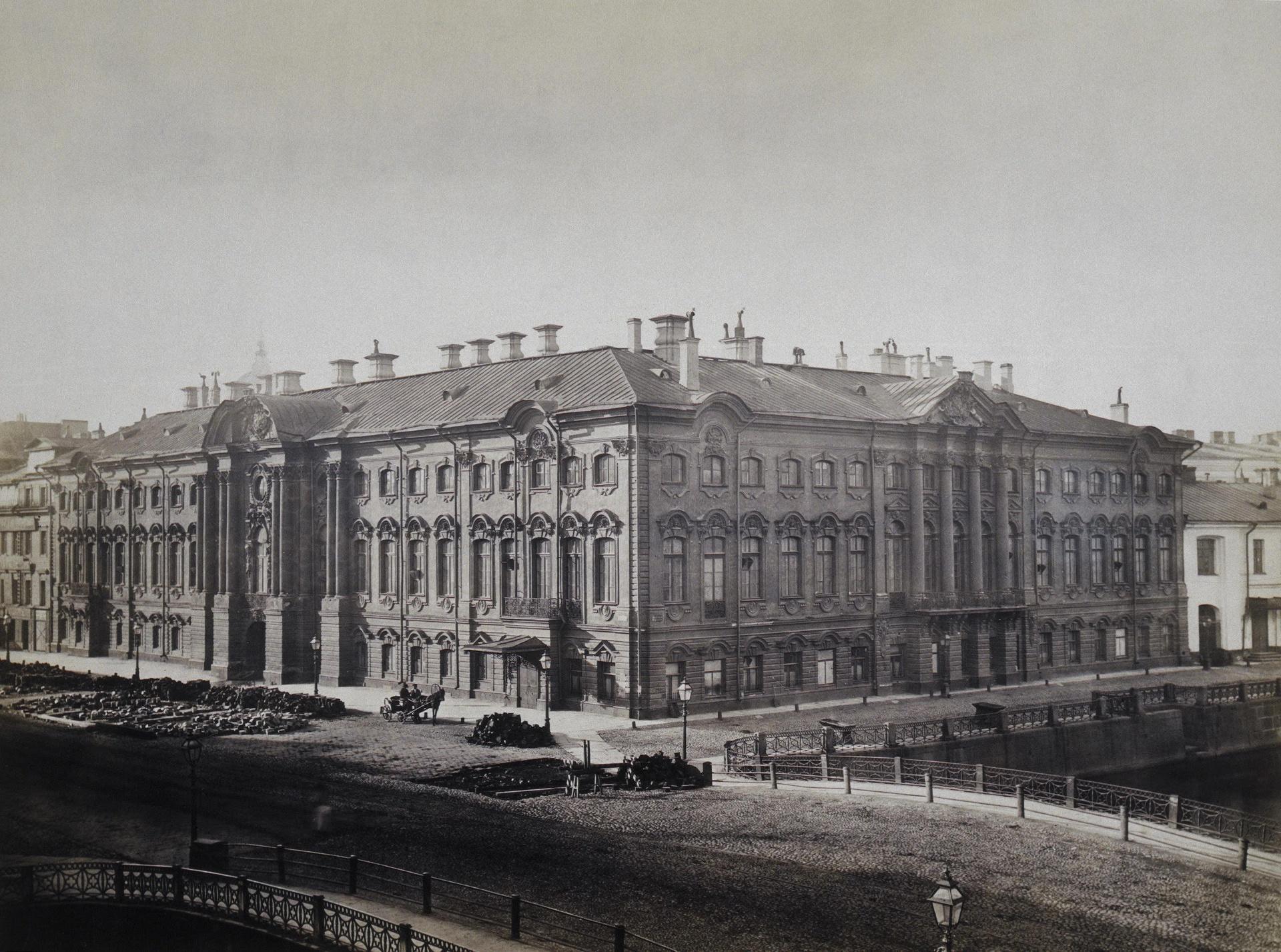 Фасад Строгановского дворца, 1868г.