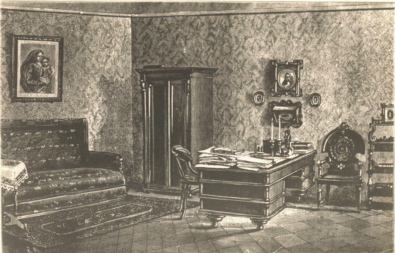 Кабинет Ф. М. Достоевского, Санкт-Петербург, Кузнечный пер. 5/2, 1881г.