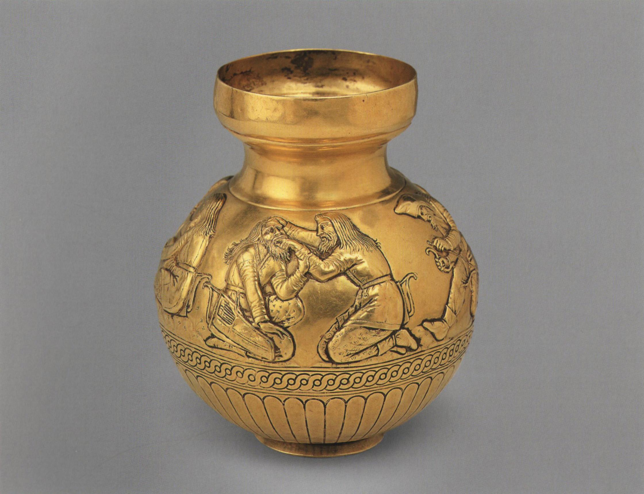 Ваза-амфора из кургана Куль-Оба, в Золотой кладовой Эрмитажа