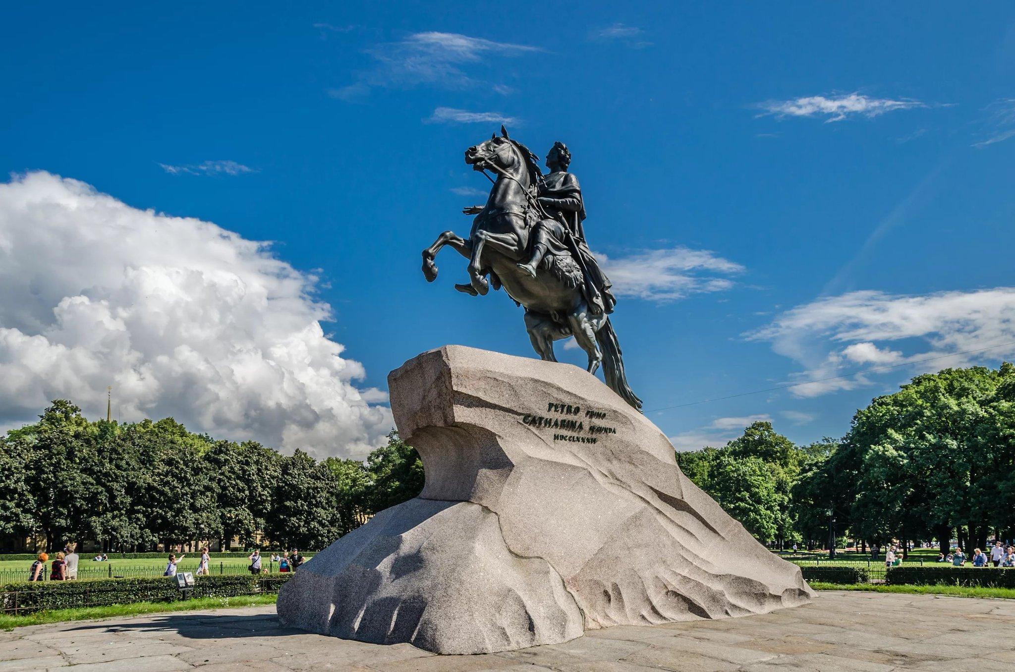 Изготовление памятника «Медный всадник»