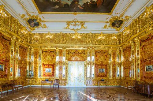 Янтарная комната в Екатерининском дворце в Пушкине